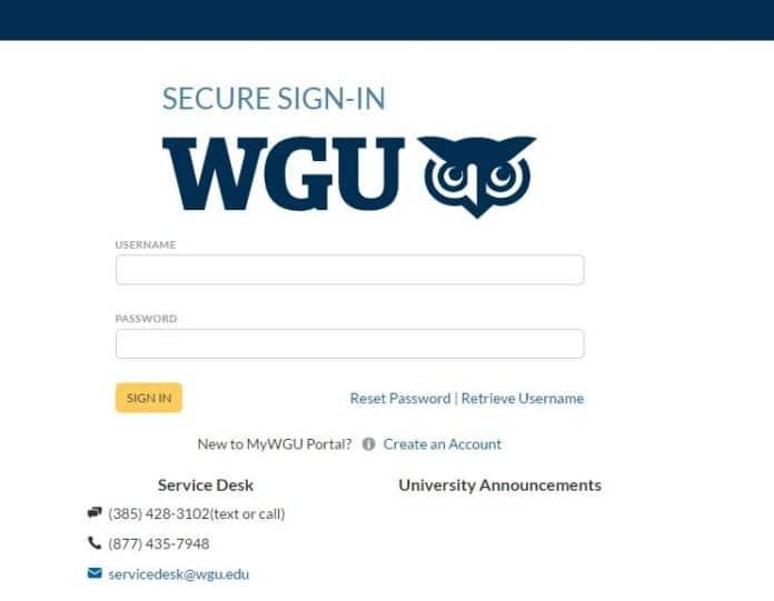 WGU Login Portal