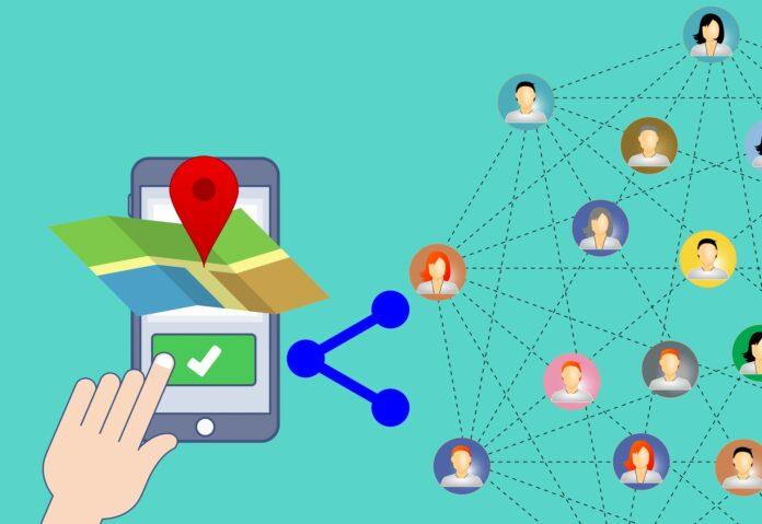 Phone location track
